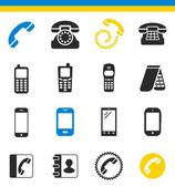 Telephone, communication icons — Stock Vector
