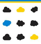 Clouds, storage, hosting  icons — Stock Vector