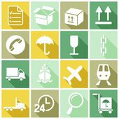 Logistics, freight, delivery icons — Stock Vector