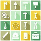 Construction, manufacture icons — Stock Vector