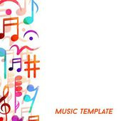 Musical template — Stock Vector