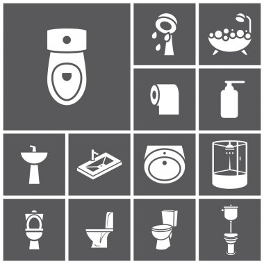 Bathroom, WC, restroom icons