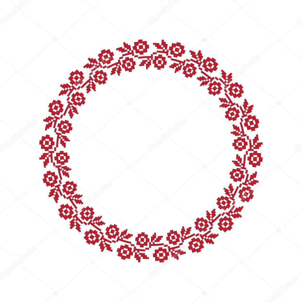 Украинский народный круглый узор — Векторное изображение ...: http://ru.depositphotos.com/56897621/stock-illustration-ukrainian-national-round-pattern.html