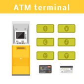 ATM machine concept — Stock Vector