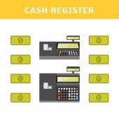 Illustration of  cash register. — Stock Vector