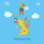 Global migration concept — Stock Vector
