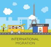 International migration concept — Stock Vector