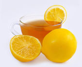 Food and drink tea citric — Stock Photo
