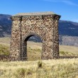Stone Archway Entrance to Yellowstone National Park — Stock Photo #53051493