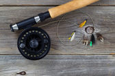 Fly Reel with Assorted Flies  — Photo