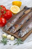 Preparing to Cook Wild Trout  — Stock Photo