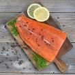 Salmon Fillet seasoned and ready for cooking — Stock Photo #60734017