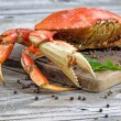 Steamed Crab on Server Board — Stock Photo #60787577