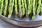 Fresh Asparagus in Fry Pan  — Stock Photo