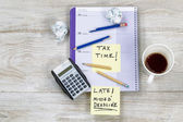 Frustration while doing Tax Returns — Stock Photo