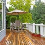 Outdoor patio closed due to heavy rain  — Stock Photo #74362141