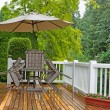 Outdoor patio closed due to poor weather conditions  — Stock Photo #74362145