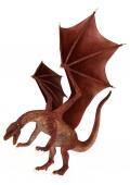 Pouncing röd drake — Stockfoto