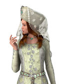 Medieval Lady — Stock Photo