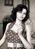 Vintage Woman — Stock Photo