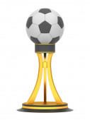 Award football trophy cup — Stock Photo