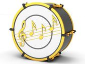 Bass drum — Stock Photo