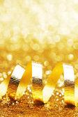 Curly golden serpentine — Stock Photo