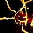 Burning halloween pumpkin — Stock Photo #52783735