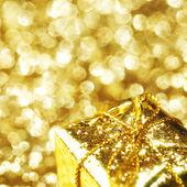 Gold gift boxe — Zdjęcie stockowe
