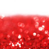 Red twinkling lights background — Photo