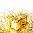 Gold gift boxes — Stock Photo #55260285