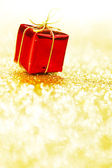 Box with holiday gift — Stock Photo
