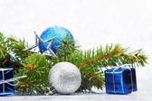 Firtree and christmas decor — Foto de Stock