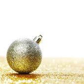 Glitter christmas ball — Stock Photo