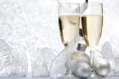 Champagne en decoratie — Stockfoto