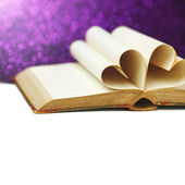Heart shaped book pages — Stock Photo