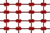 Decorative red satin bow frame — Stock Photo