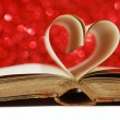 Heart from book pages — Stock Photo #58650517