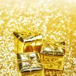 Gold gift boxes — Stock Photo #58701741
