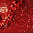 Champagne and red decor — Stock Photo #58783713