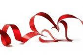 Ribbon hearts — Stock Photo