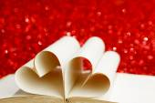 Pages in heart shape — Stock Photo