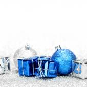 Christmas gifts and decorative balls — Foto Stock