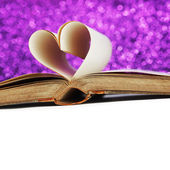 Heart from book pages — Stock Photo