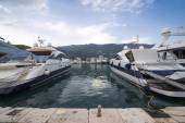 Berthed yachts — Stock Photo