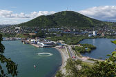 Summer view of port Petropavlovsk-Kamchatsky. Kamchatka Peninsul — Foto Stock