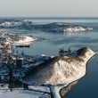 Top view of City Petropavlovsk-Kamchatsky, Avacha Bay and Pacific Ocean. Russia, Far East, Kamchatka Peninsula. — Stock Photo #69326803