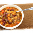 White and Red Kidney Beans Soup with herbs and seasonings  — Stock Photo #54512665