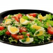 Spring salad with eggs  — Stock Photo #67093215