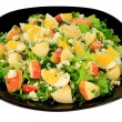 Green salad with eggs and apples  — Stock Photo #67093235